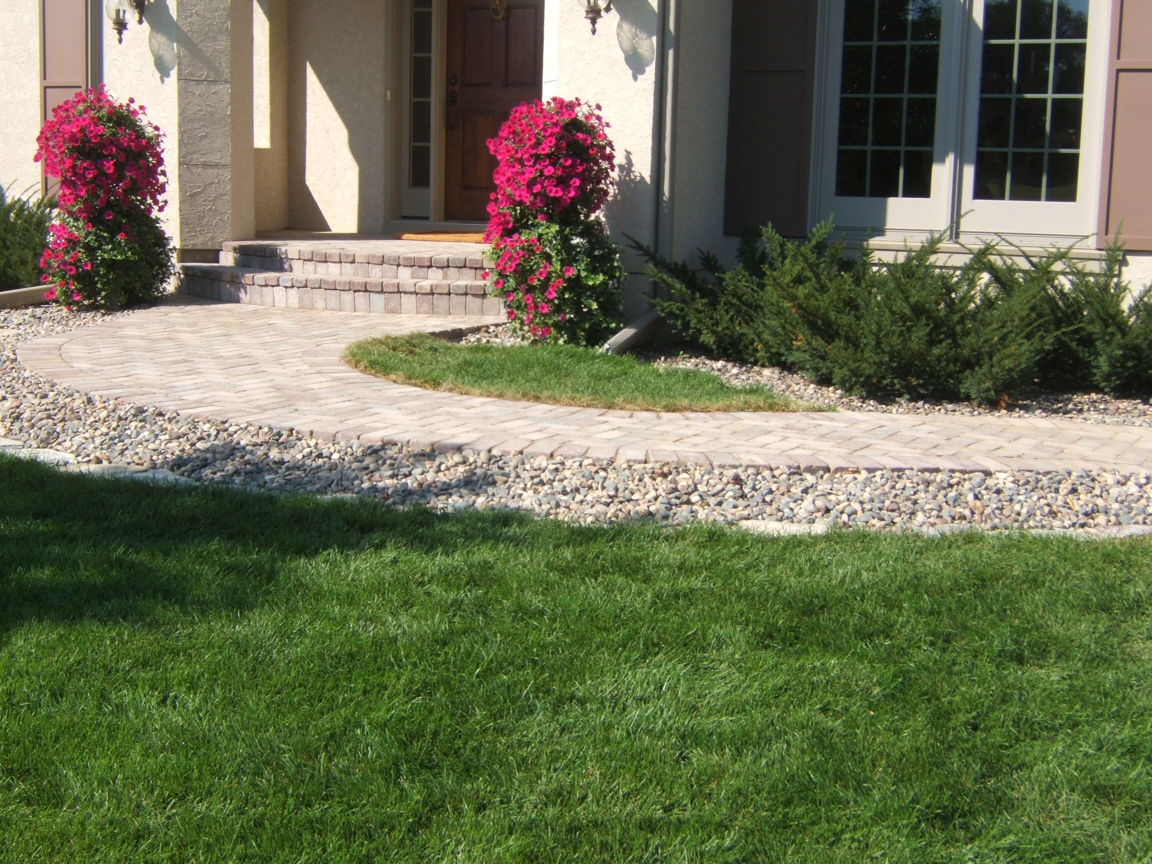 Backyard landscape services provided by Prairie Landscaping & Tree Service